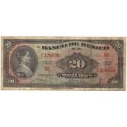 Meksika. 1957 m. 20 pesų