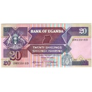 Uganda. 1988 m. 20 šilingų. P29b. UNC