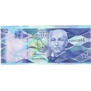 Barbadosas. 2013 m. 2 doleriai. P73. UNC