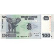 Kongo Demokratinė Respublika. 2007 m. 100 frankų. P98a. UNC