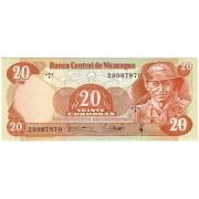 Nikaragva. 1979 m. 20 kordobų. P135. UNC