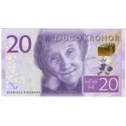 Švedija. 2015 m. 20 kronų. P69. UNC