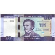 Liberija. 2016 m. 10 dolerių. UNC