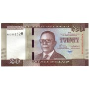 Liberija. 2016 m. 20 dolerių. UNC