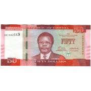 Liberija. 2016 m. 50 dolerių. UNC
