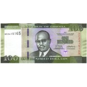 Liberija. 2016 m. 100 dolerių. UNC