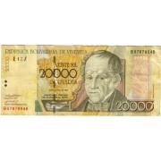 Venesuela. 2002 m. 20.000 bolivares