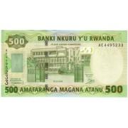Ruanda. 2008 m. 500 frankų. P30b. UNC