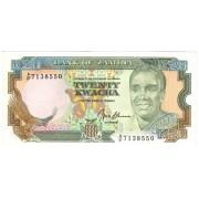 Zambija. 1989-1991 m. 20 kwacha. P32b. UNC