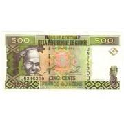 Gvinėja. 1998 m. 500 frankų. UNC