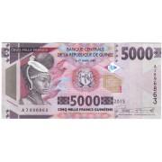 Gvinėja. 2015 m. 5.000 frankų. UNC