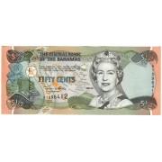 Bahamai. 2001 m. 1/2 dolerio. UNC
