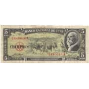 Kuba. 1958 m. 5 pesai