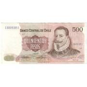 Čilė. 1988 m. 500 pesų