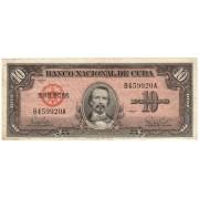 Kuba. 1960 m. 10 pesų