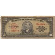 Kuba. 1949 m. 20 pesų