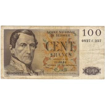 Belgija. 1952 m. 100 frankų