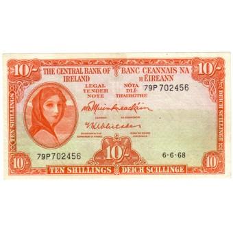 Airija. 1968 m. 10 šilingų