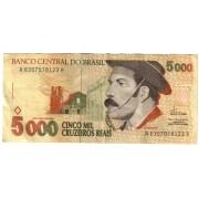 Brazilija. 1993 m. 5.000 cruzeiros