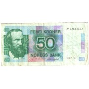 Norvegija. 1987 m. 50 kronų