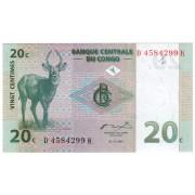 Kongas. 1997 m. 20 centimų. aUNC